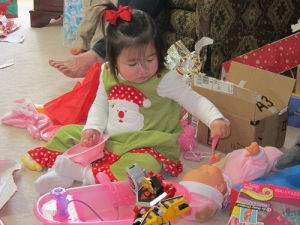 MK feeding baby