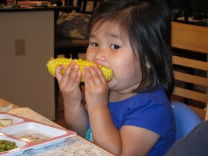 She loves corn!
