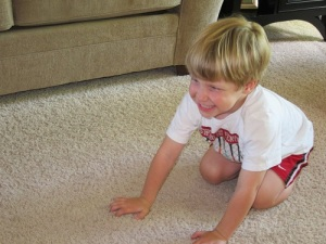 Ethan wrestling