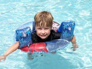 Ethan and his floaties