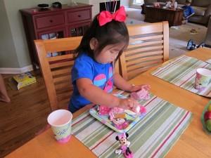 Eating cake!