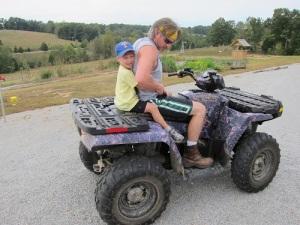 4-wheeler riding