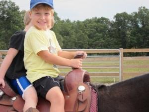 E on horseback